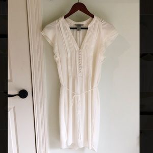 Cream H&M Spring Dress with Buttons